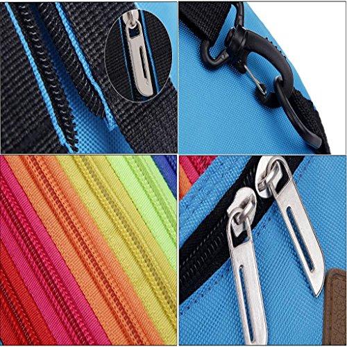 Regenbogen Sling Bag, kann als Umhängetasche / Brusttascher oder Rucksack verwendet, Reisezubehör Body Bag Orange