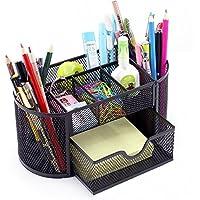 Organizador de escritorio, de Vonimus, juego organizador específico de malla de metal, soporte para lápices, color negro