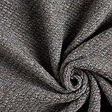 Fabulous Fabrics Strickstoff Cardigan Becky – dunkelgrau — Meterware ab 0,5m — zum Nähen von Jacken, Mänteln und Pullovern