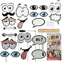 Comic Photo Booth Accessoires Photocall Zubehör Photobooth Schilder Superhelden