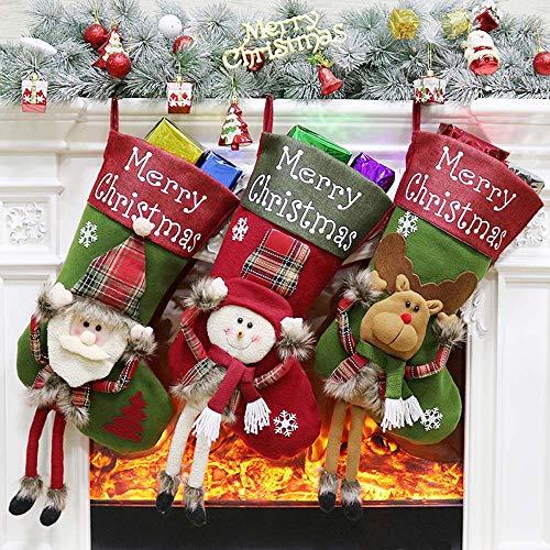 Ecent Calcetines Navidad Decoracion Medias Navidad