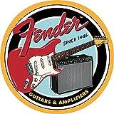 Fender Plaque en métal 30 x 30 cm