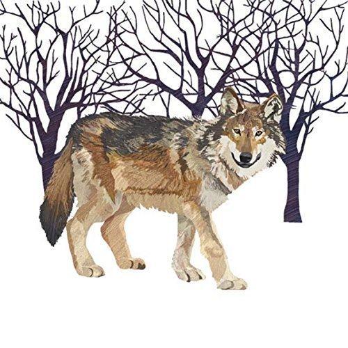 Blanc Brun Noir Loup arbres Paquet de 20 Papier Serviettes 13 \\