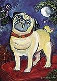 DIYCCY chagrowl Mops 31,8x 45,7cm Dekorative Puppy Dog Portrait Garten Flagge