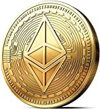 innoGadgets Physische Ethereum Medaille mit 24-Karat Echt-Gold überzogen. Wahres Sammlerstück mit Schutzhülle, Münzkapsel. EIN Muss für jeden Ethereum-Fan
