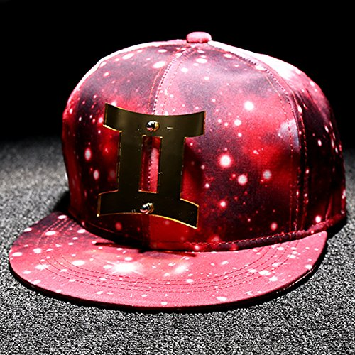 xrq-twelve-male-stars-constellation-hat-hat-baseball-cap-all-match-female-personality-flat-along-the