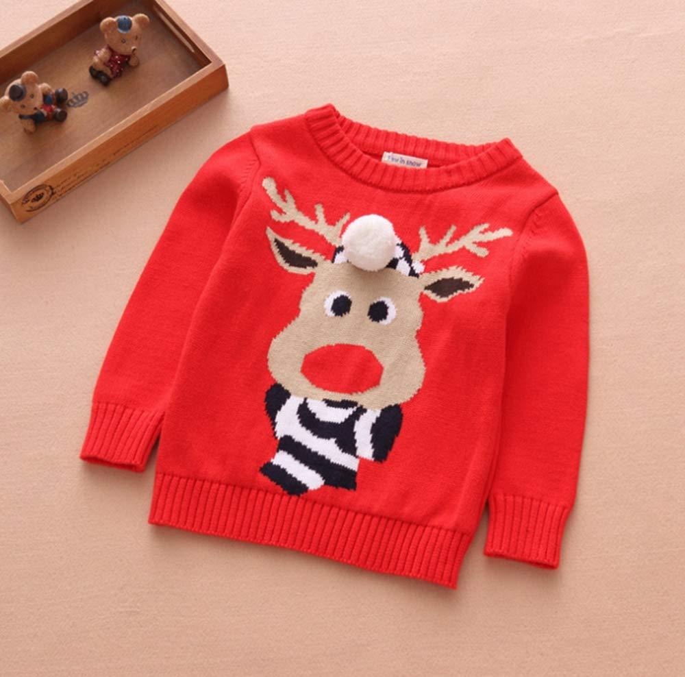 Toctax Suéter de Bebé Navidad Dibujos Animados de Jersey de Navidad Bordado Prendas de Punto Espesar Suéter Jersey de… 2