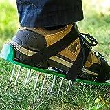 THEE Rasenbelüfter Sandalen Vertikutierer Rasenlüfter Rasen Nagel-Schuhe Rasenlüfterschuh Rasenlüfter Bodennägeln
