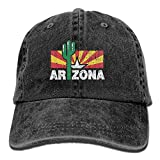 Photo de Vintage Cactus Arizona Flag Unisex Baseball Caps Denim Hats Cowboy par Hhaj