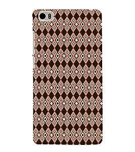 Stylish Dimond Pattern 3D Hard Polycarbonate Designer Back Case Cover for Xiaomi Mi 5 :: Redmi Mi5