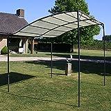 Stahlrahmen + Stoffdach Pavillon Stoff Cremewei? Wasserdicht Gartenlauben Festzelte Gartenzelt - 100% Polyester