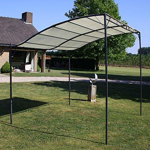 festnight Stoff Großer Garden Pavillon Backyard Shelter Himmel mit Stahlrahmen creme weiß