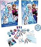 DISNEY Frozen Advent Calendar with 24 Surprise Gifts (Blue)