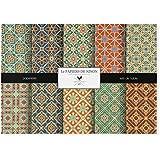 Lé Papiers de Ninon Mosaïc Patterns Sets de Table Papier Multicolore 48.5 x 36.5 cm