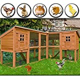 Rabbit Hutch Cage Wooden Chicken Coop 4.5m Total Length Wood