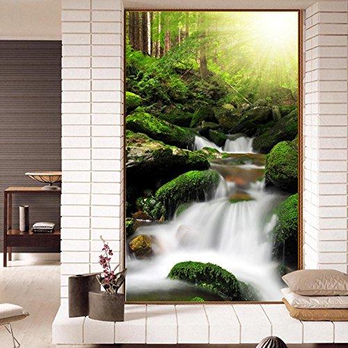 Preisvergleich Produktbild Wapel Große Wandmalereien, 3D Blumen und Vögel, Bambus Wälder, Landschaften, Flure, Hintergrund Mauer, nahtlose Non-Woven Stoff 400 X 280 Cm