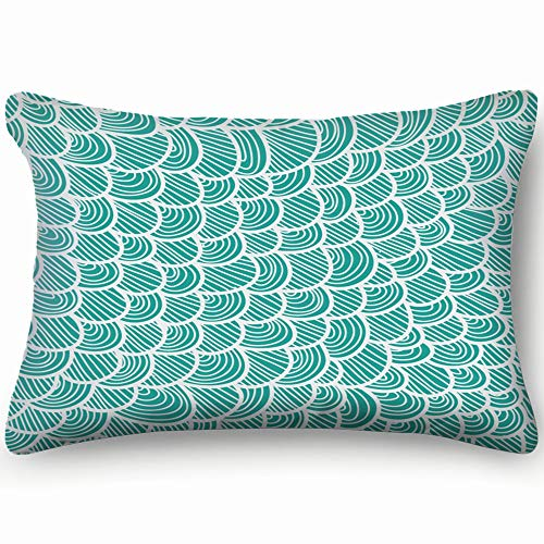 tuyi Blue Scale The Arts Fish The Arts Fish Pillowcases Decorative Pillow Covers Soft and Cozy, Standard Size 20