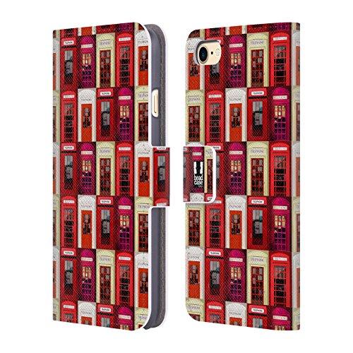 Head Case Designs Gipfel I Love London Brieftasche Handyhülle aus Leder für Apple iPhone 5 / 5s / SE Telefon Muster