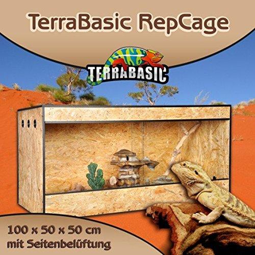 TerraBasic RepCage 100x50x50, Seitenbelüftung, schwarze ABS Kanten
