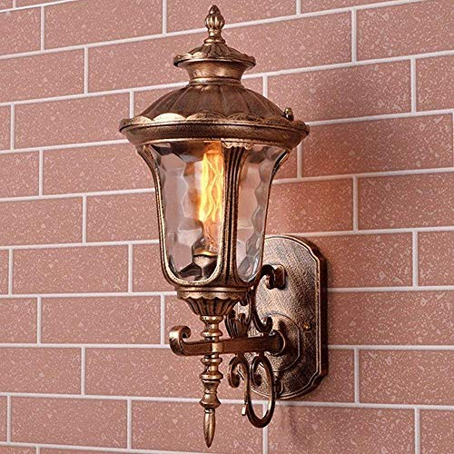 DEI QI Klassische Europäische Einfache Outdoor Wasserdichte Laterne Wandleuchte Tradition Victoria Messing Kreativität E27 Wand Dekoration Licht Applique Für Villa Garten Patio Korridor Korridor -