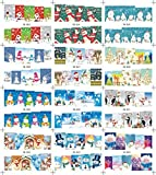 AMA(TM) 1 Big Sheet Christmas Nail Art Water Decal Transfer Stickers Manicure Nail Tips Decorations (B)