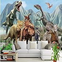 Lqwx 3D Personalizadas Gran Mural De Papel Tapiz Para Paredes 3 D Dinosaurio Del Jurásico Hegemonía A Través Del Espacio Tiempo Como Telón De Fondo La Foto De Papel De Pared 300Cmx210Cm