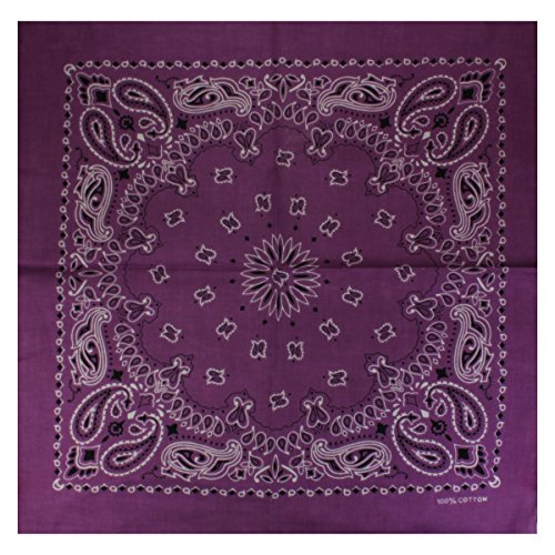 Bandana mit exclusivem Paisley Muster in lila