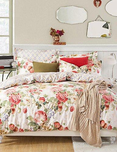 Floral Bettdecke In Voller Größe (GXS/ floralen Schönheit, High-End-Voll Baumwolle reaktiven Druckmuster Cartoon Betten 4pc, Königin / in voller Größe Qualität von Waren , queen)