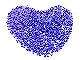 Gravel Pebble glass Sand stone rocks glass or crystal gravel stones for Aquarium Decorative Fish Tank or Yard (Blue)