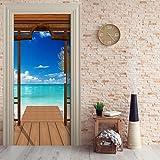 Türtapete selbstklebend TürPoster - PARADIES - Fototapete Türfolie Poster Tapete Meer