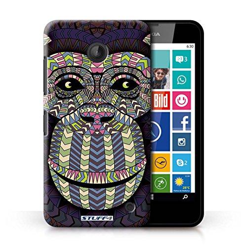 Kobalt® Imprimé Etui / Coque pour Nokia Lumia 635 / Tigre-Mono conception / Série Motif Animaux Aztec Singe-Couleur