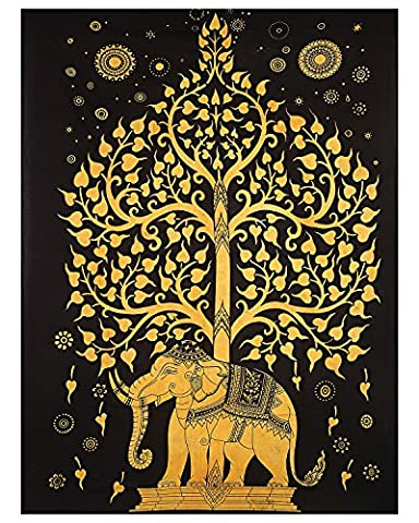 Baum des Lebens Tapisserie Indischer Elefant Tapisserie Baum Elefant Tapisserie Indischer Tapisserie Zweibettzimmer Schlafsaal Bettwäsche Baum Tapisserien