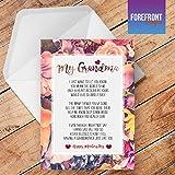 Personalisierte 'Grandma/NANNA' Gedicht Grußkarte–Texten für jede Gelegenheit oder Event–Geburtstag/Weihnachten/Hochzeit/Jahrestag/Verlobung/Vatertag/Muttertag