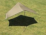Toldo 440x 440cm, protección solar, Tarp Morgan, camping, ette0621, Nuevo OVP.