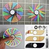 Generic 3pcs Geekcreit DIY Full Color Rotating POV DIY LED Flash Kit Hand Spinner Electronic Kit