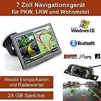 Elebest 7 Zoll Navigationsgerät,PKW,LKW,Wohnmobil,Funk Rückfahrkamera,Freisprecheinrichtung,Bluetooth,Radarwarner,Kostenlose Kartenupdate