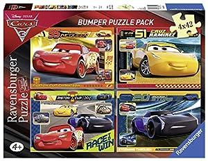 Ravensburger- Puzzle 4 x 42 Piezas Bumper Pack, Cars 3 (6890)