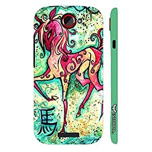 HTC ONE S CHINESE ZODIAC HORSE designer mobile hard shell case by Enthopia