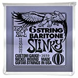 Ernie Ball Slinky 6-Saiter mit kleinem Kugelkopf 29 5/8 Bariton Gitarrensaiten - 13-72 Gauge