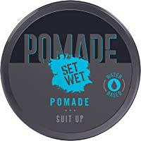 Set Wet Pomade Hair Wax 60, Perfect Slick & Shiny Wet Look, Strong Hold, Water Based, Easy wash off, No Paraben, No…