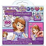 Coffret d'activités Princesse Sofia : Avec 1 cadre photo, 1 bague, 1 pochoir, 1 stylo, 3 gommes, 10 badges et 1 porte-clés