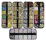 Ranvi 3000 Pezzi (5 scatole) Set di strass per nail art Ornamenti per unghie stile 1