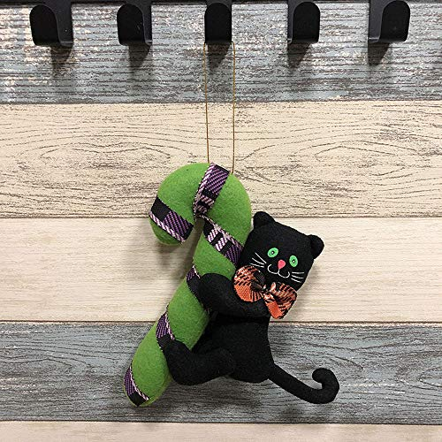 (Bolange Halloween-Tür hängenden Türgriff süße Tuch Schwarze Katze Geist Halloween Dekoration Kinder Geschenk - Schwarze Katze Modelle)