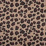 Fabulous Fabrics Mantelstoff Flauschiger Leopard – beige