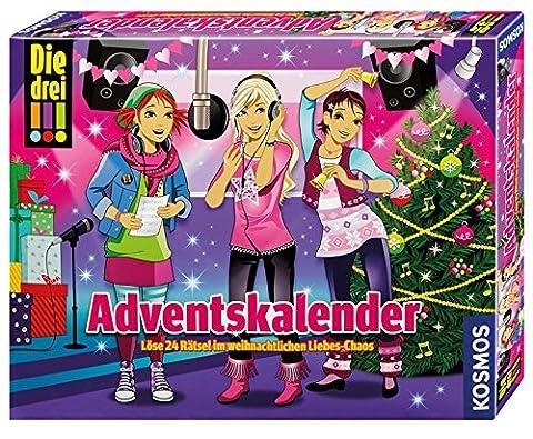 Kosmos 631895 - Die drei !!! Adventskalender 2015 - Löse