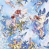 Fee Märchen Stoff blau Michael Miller Dawn fairies