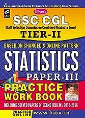 Kiran's SSC CGL Tier II Statistics Paper III Practice Work Book - 2016