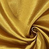 Fabulous Fabrics Polyestersatin Stoff Gold — Meterware ab 0,5m — Satin zum Nähen von Kissen und Tagesdecken, Tischdekorationen und Bettwäsche