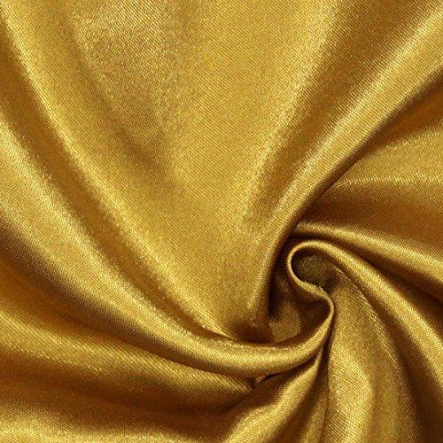 Fabulous Fabrics Polyestersatin 36 Gold - Meterware ab 0,5m - zum Nähen von Kissen, Tischdecken und Bettwäsche (Tischdecke Stoff Gold)