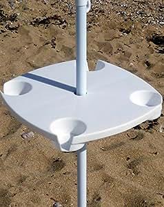 RIO Abnehmbarer Tisch für Sonnenschirm / Regenschirm für Unterwegs.